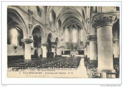 église intérieur carte postale