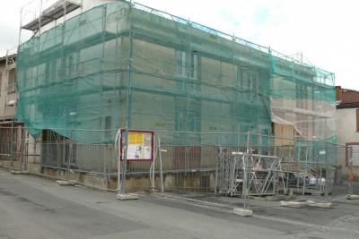 Façade mairie en cours de rénovation