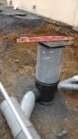 Le dernier raccordement des canalisations des eaux usées