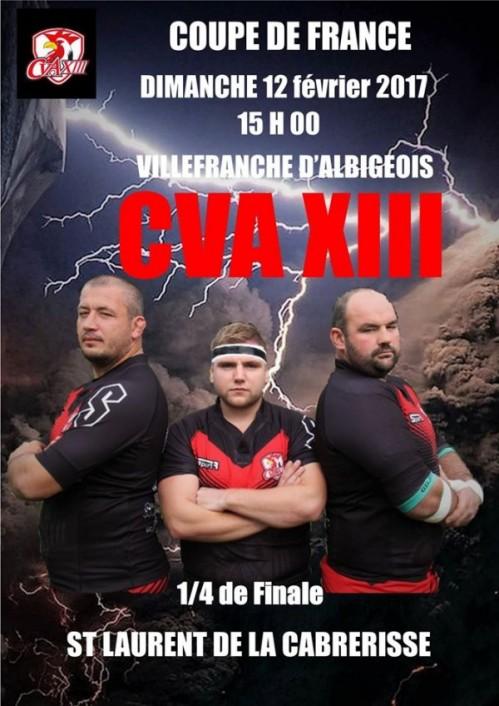 CVA XIII 1/4 de finale de coupe de France