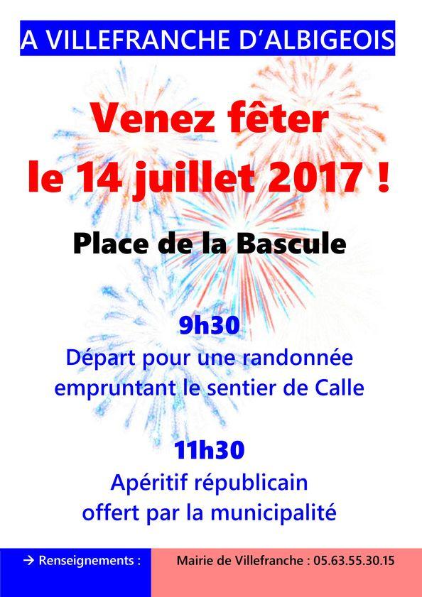 Venez fêter le 14 juillet à Villefranche!