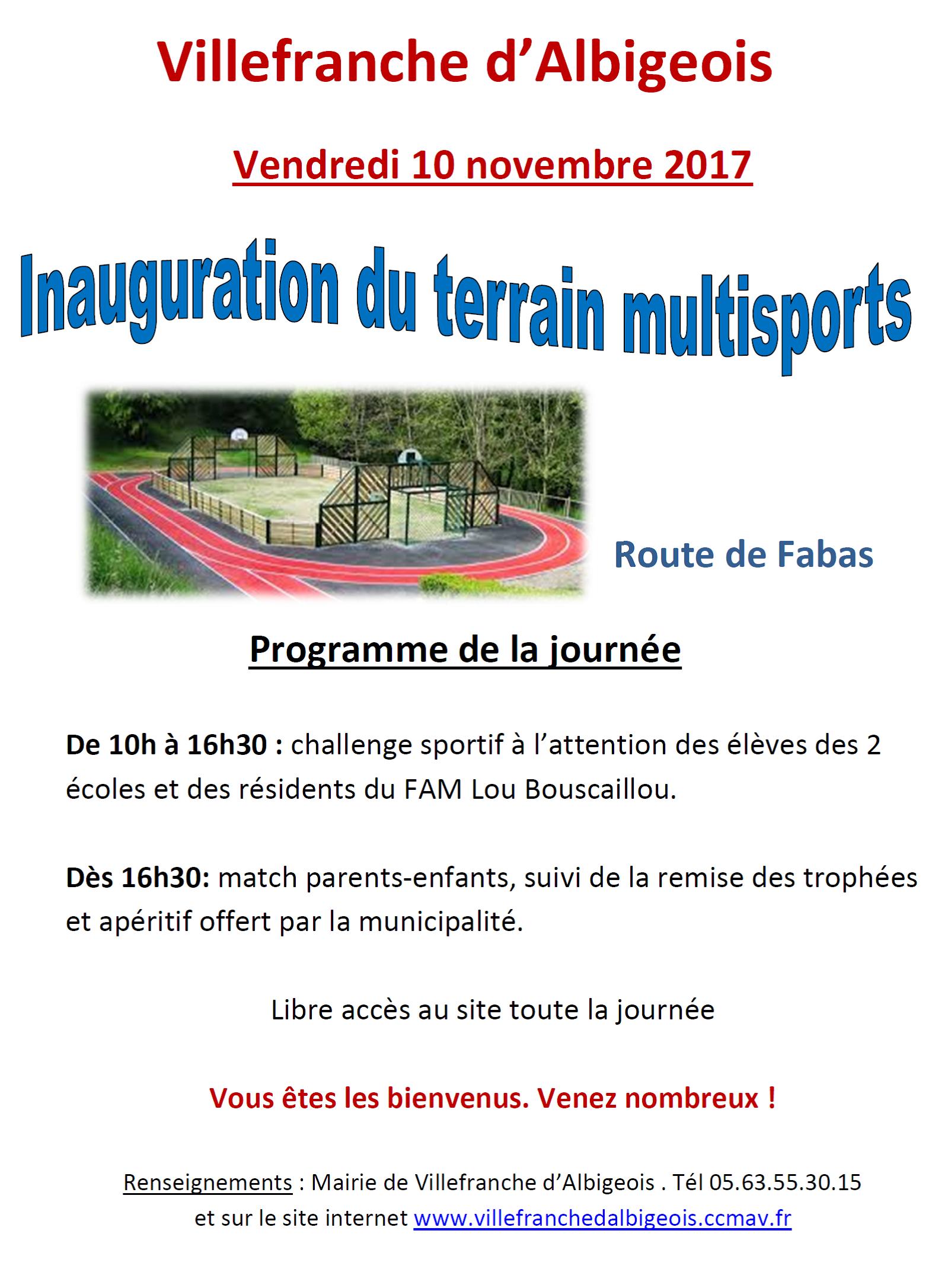 Vendredi 10 novembre 2017 : inauguration du terrain multisports