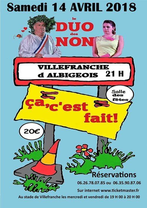 """DUO DES NONS : spectacle """"ça c'est fait! le best of"""""""