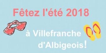 Fêtez l'été 2018 à Villefranche d'Albigeois