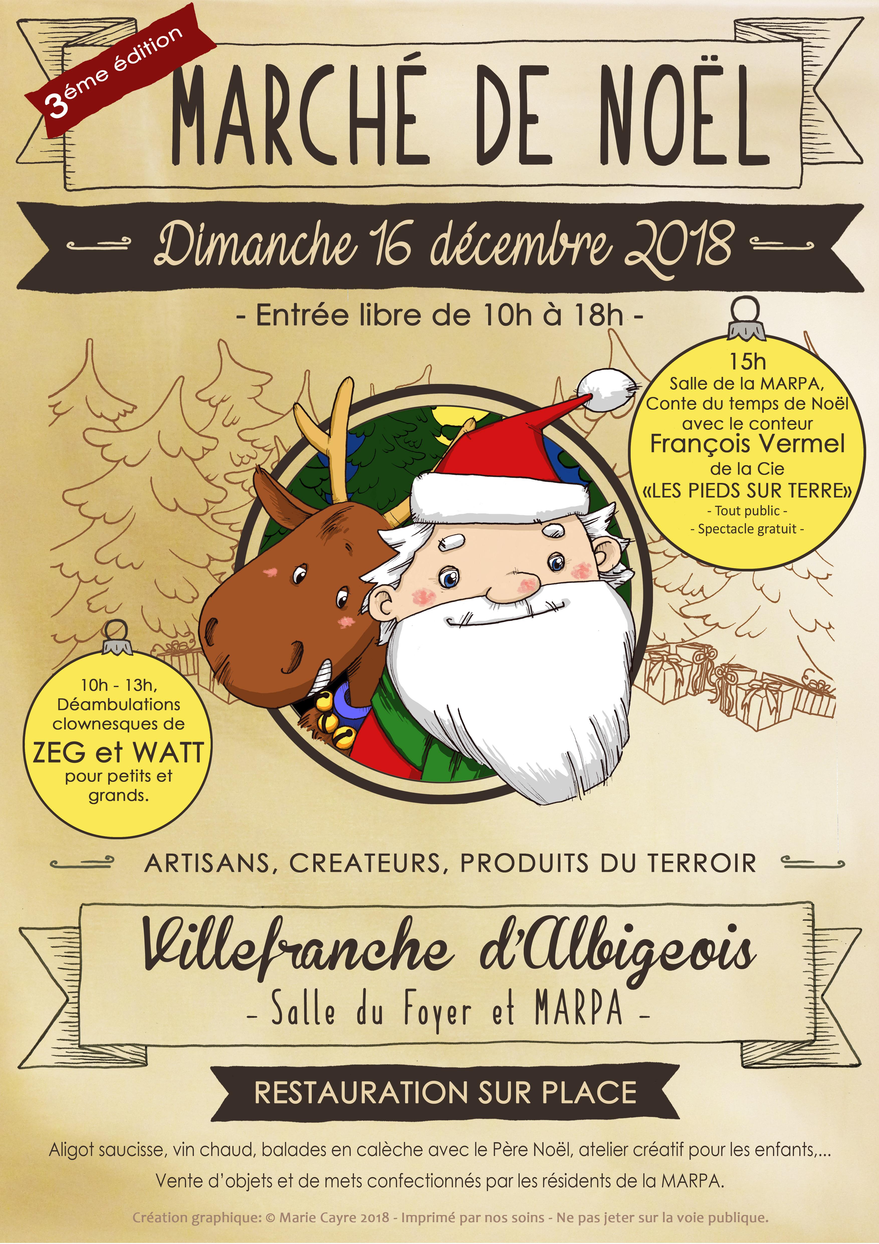 3ème édition du Marché de Noël des créateurs, artisans et producteurs
