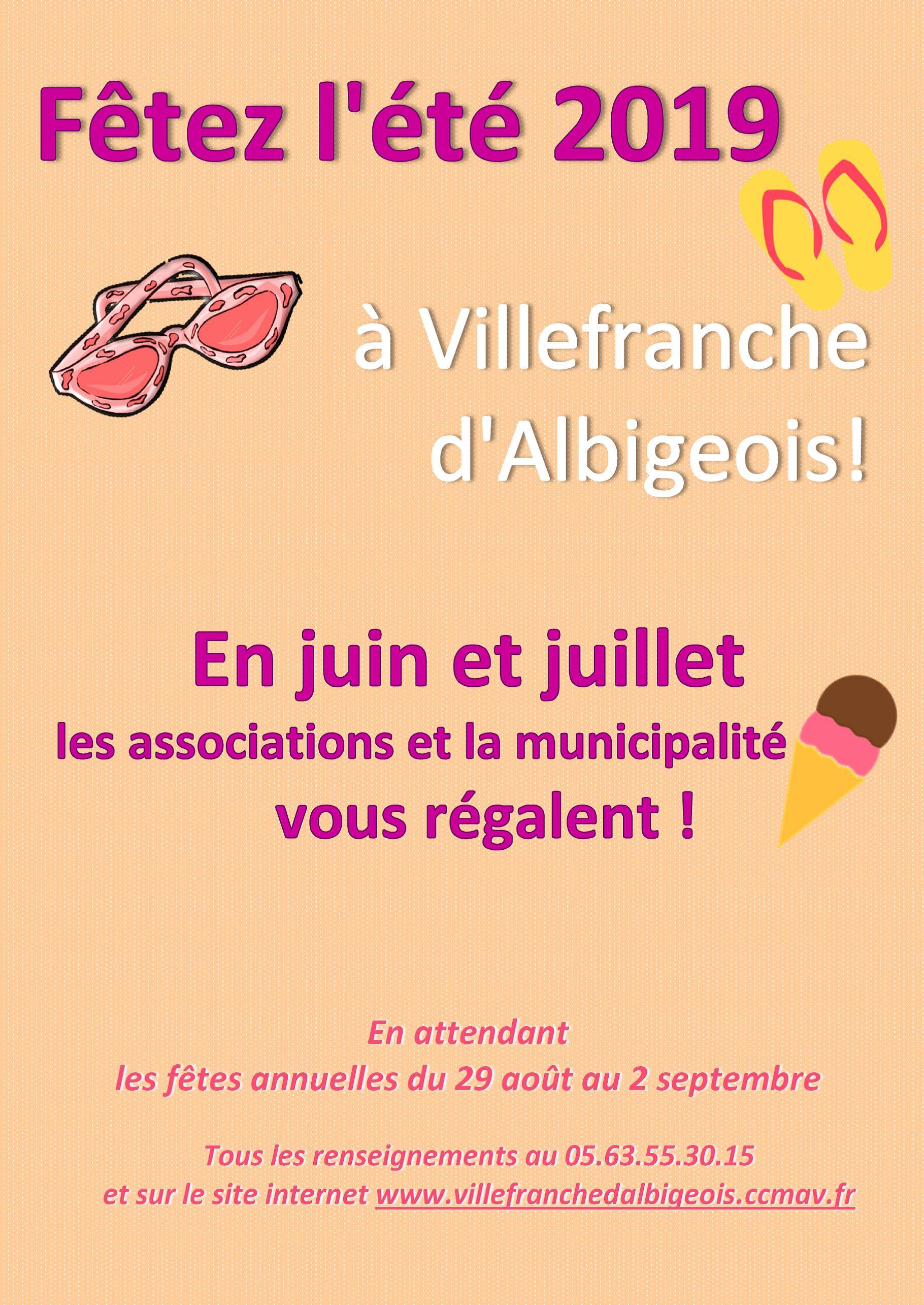 Fêtez l'été 2019 à Villefranche d'Albigeois