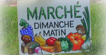 Marché aux produits locaux le dimanche matin