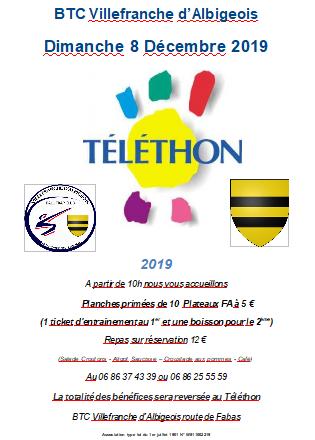Journée au profit du Téléthon à Villefranche d'Albigeois
