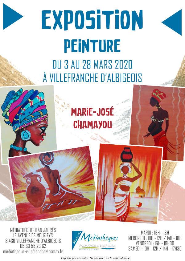 DU 3 AU 28 MARS - Exposition de Marie-José Chamayou