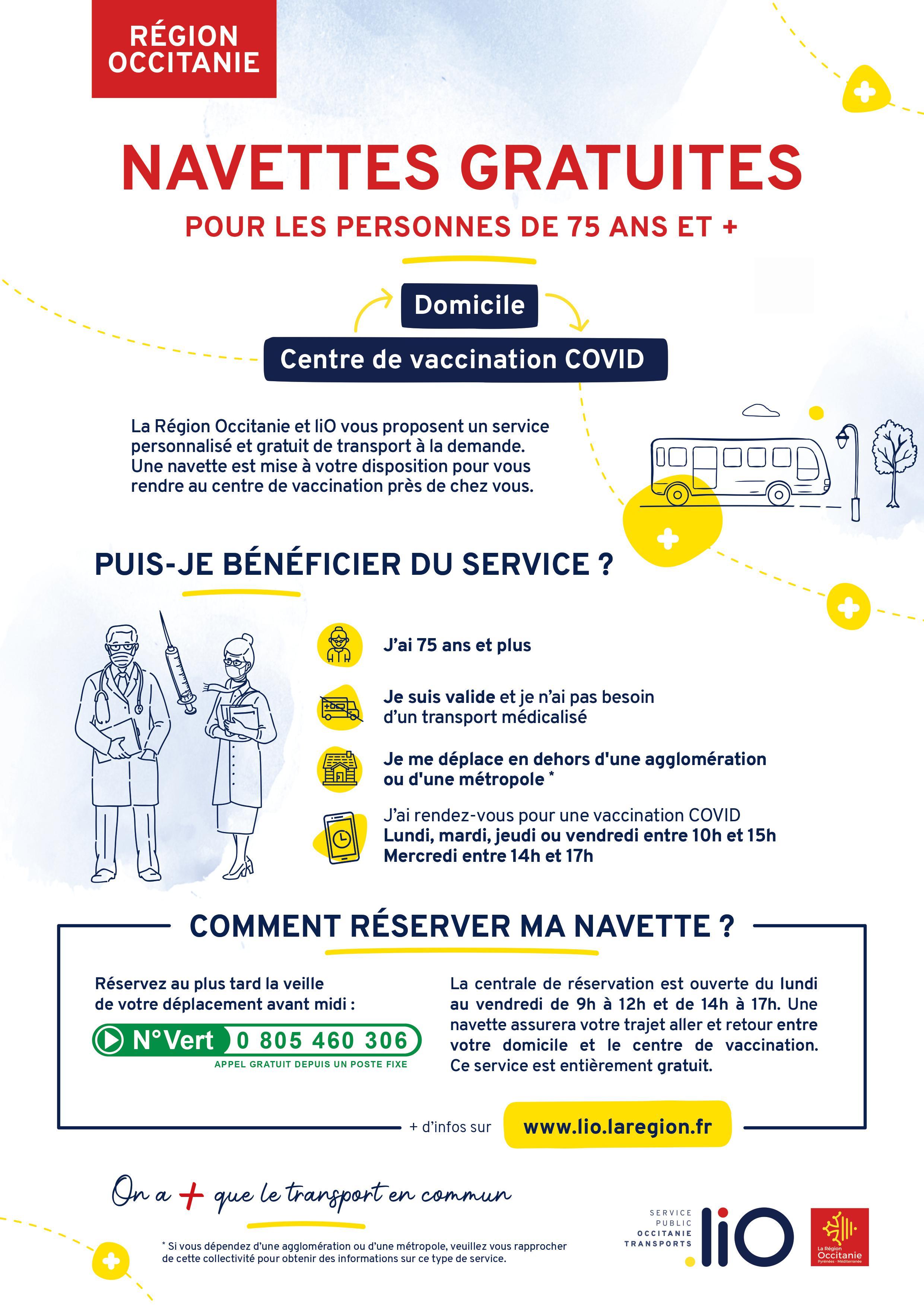 COVID-19 : un service liO gratuit pour aller vous faire vacciner