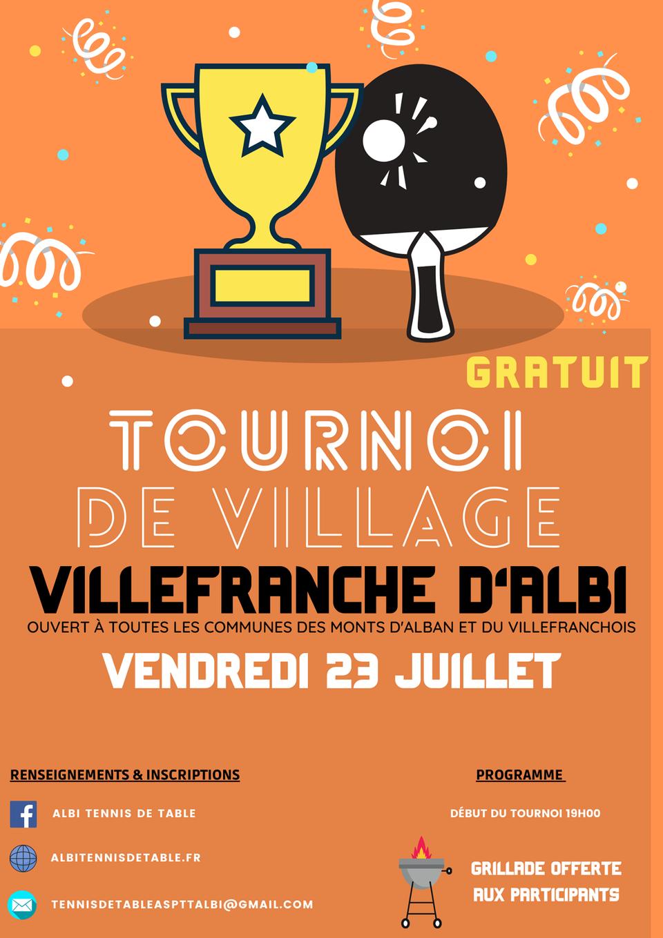 Tournoi de Tennis de Table à Villefranche !