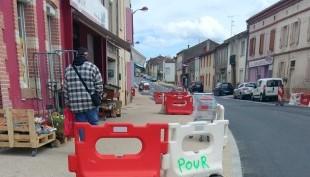 Photo accès provisoire rue Traversière