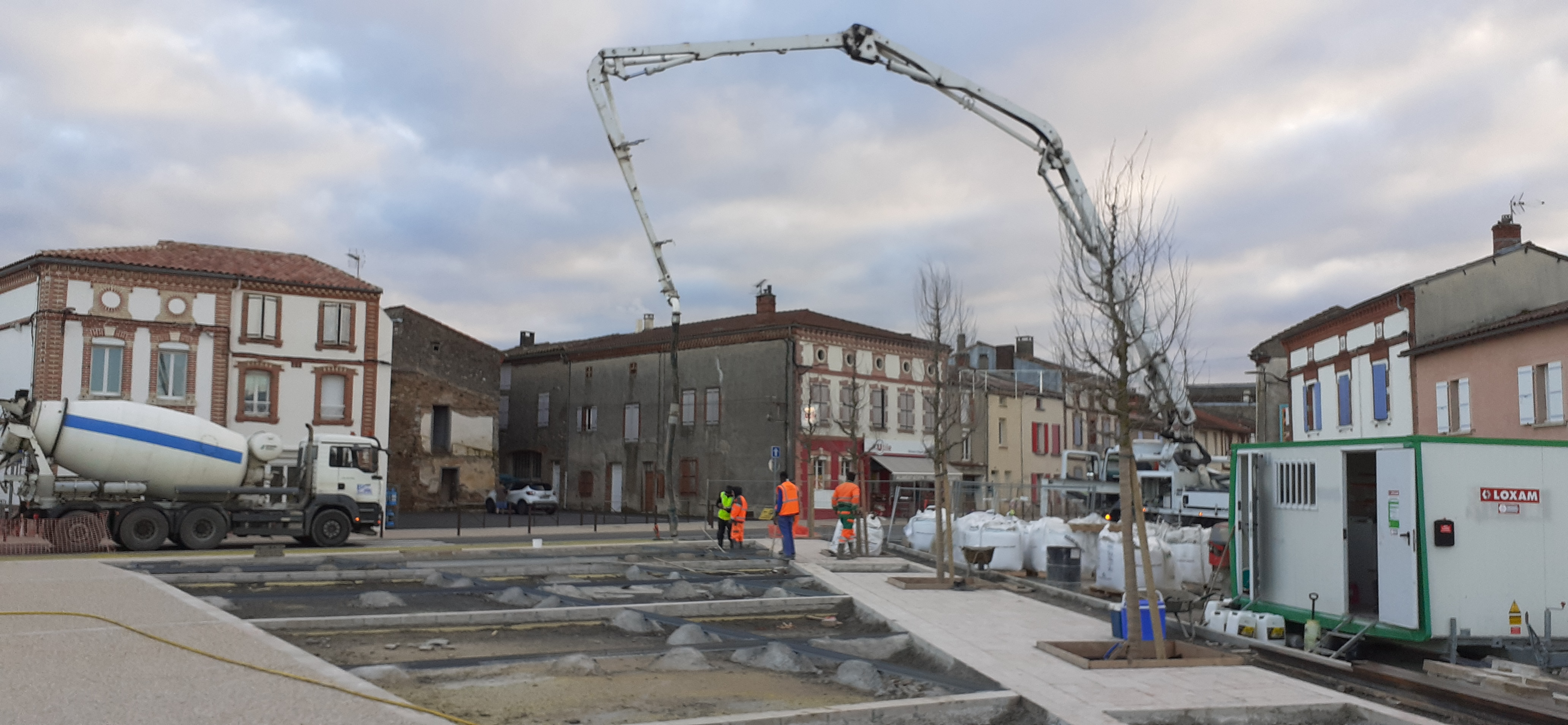 Chantier aménagement place Bascule 5 février 2020 3