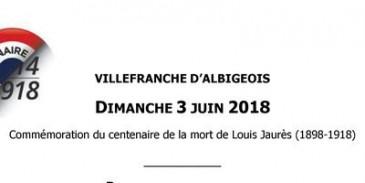 Commémoration du centenaire de la mort de Louis Jaurès - Journée ouverte à tous