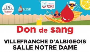 Don de sang à Villefranche !